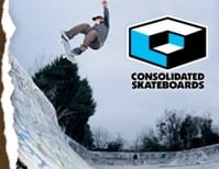 Blue Consolidated Skateboards Skate T-Shirts