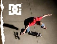 Red DC Shoes Mens Skate Shoes