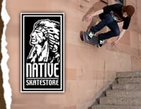 White Native SKATE CLOTHING