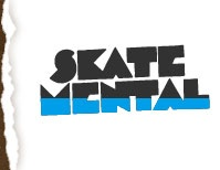 Black Skate Mental Skate T-Shirts