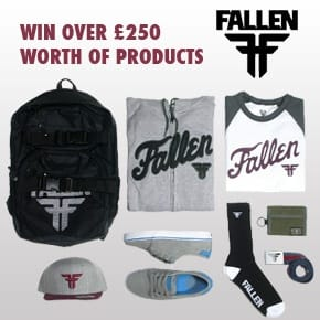 Win over £250 worth of products from Fallen