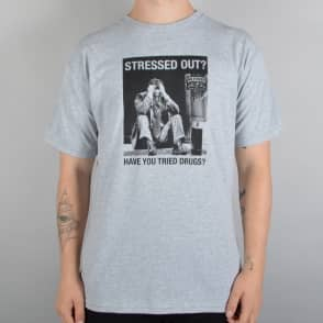Antihero Skateboards Stressed Out Skate T-Shirt - Grey Heather