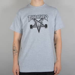 Thrasher Skategoat Skate T-Shirt - Heather Grey