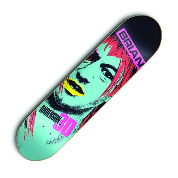 3D Skateboards 3D Brian Anderson Aggressor Skateboard Deck ...