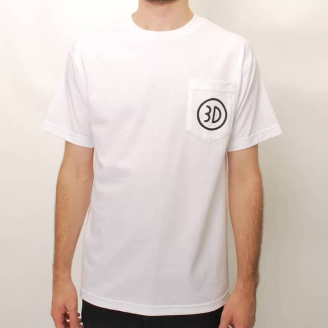 3D Skateboards 3D Pocket Skate T-Shirt - White