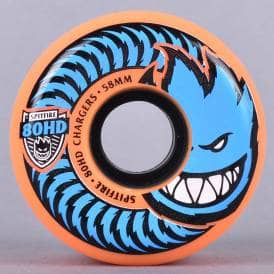 80HD Chargers Conical Orange Skateboard Wheels 58mm