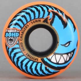 80HD Chargers Orange Conical Skateboard Wheels 54mm
