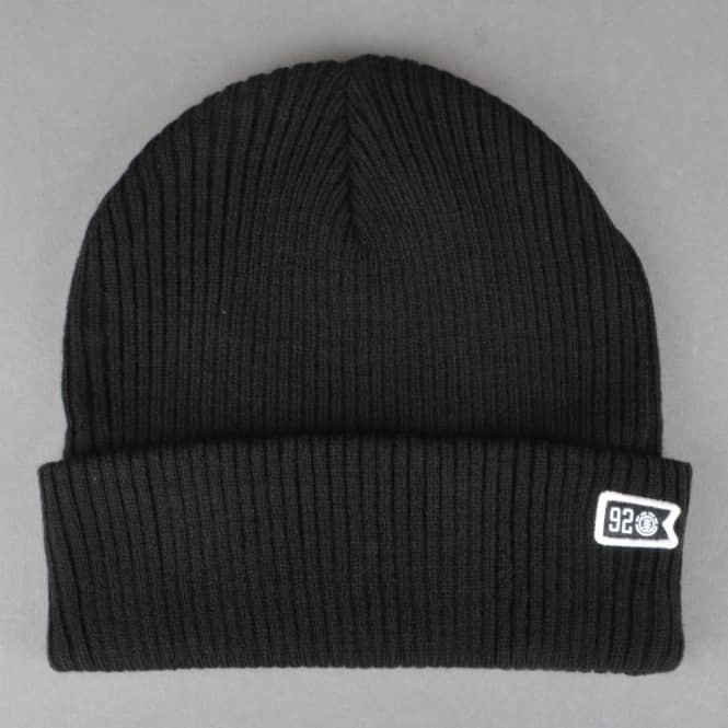 Element Skateboards 92 Crew Beanie - Flint Black