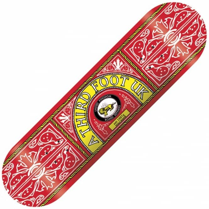 A Third Foot Skateboards A Third Foot Skate & Lyle Red Skateboard Deck 8.5''