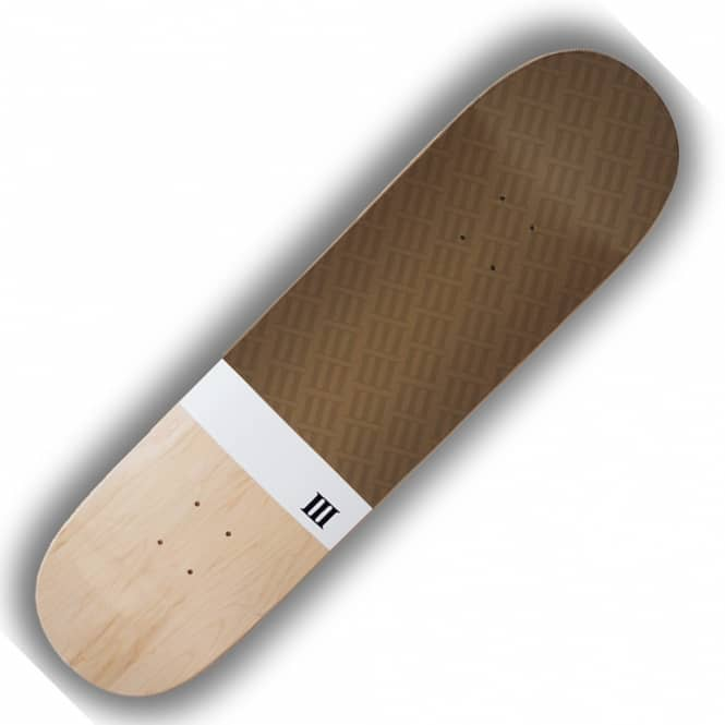 A Third Foot Skateboards Numeral (Golden Brown) Skateboard Deck 8.375''