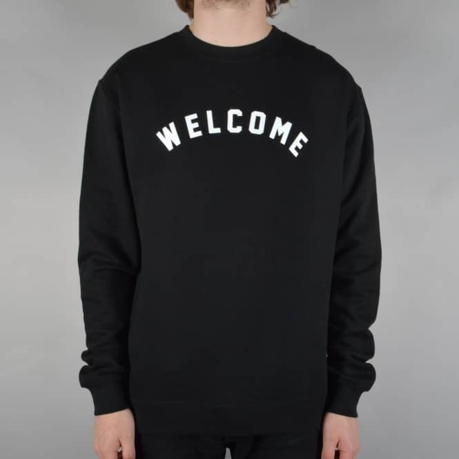 Welcome Skateboards Academic Crewneck Sweater - Black