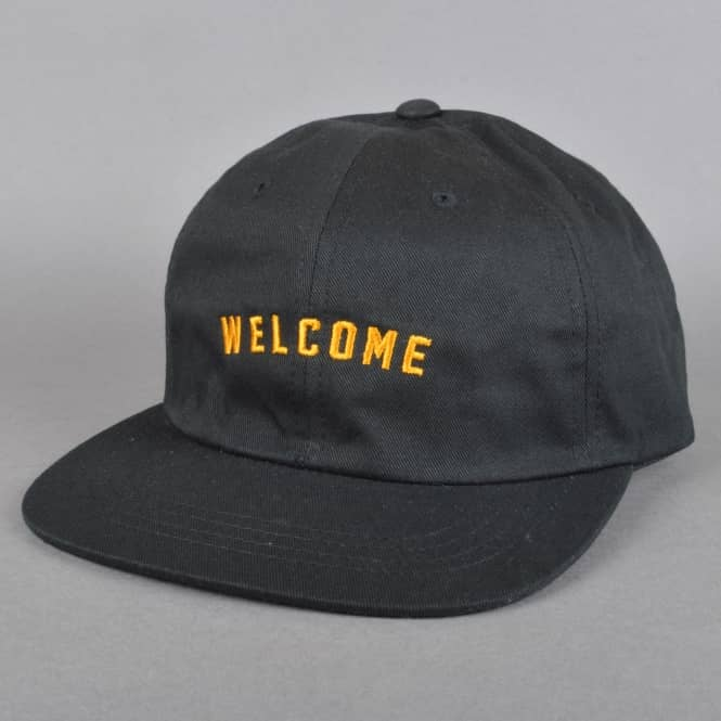Welcome Skateboards Academic Unstructured Snapback Cap - Black