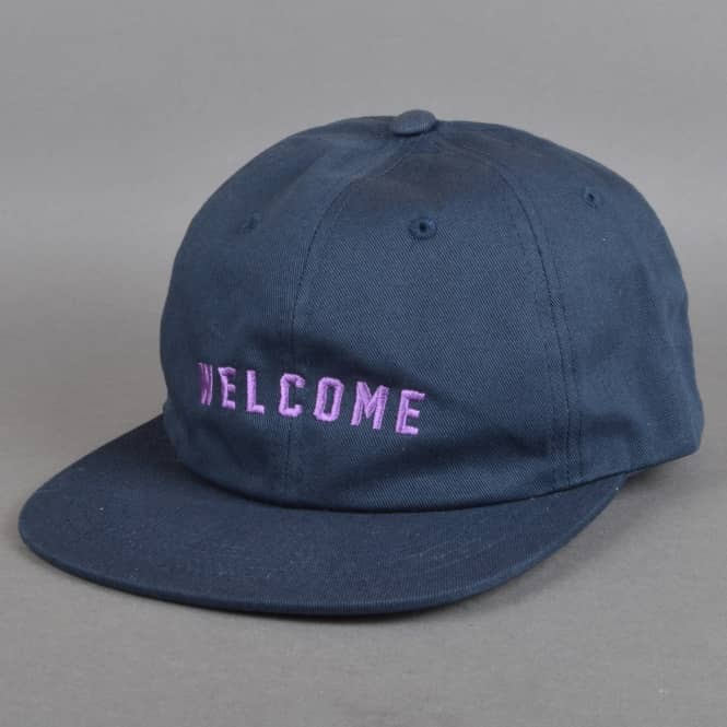 Welcome Skateboards Academic Unstructured Snapback Cap - Navy