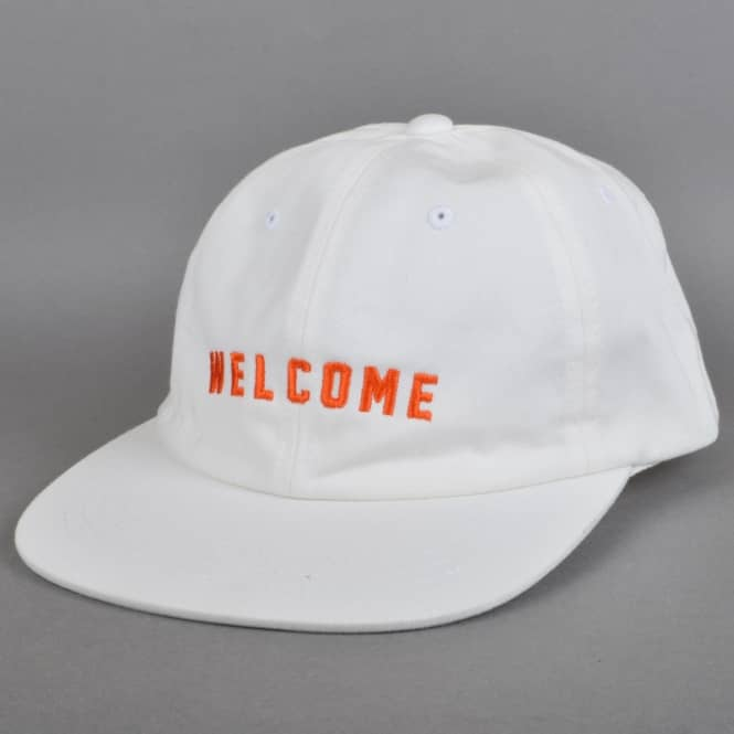 Welcome Skateboards Academic Unstructured Snapback Cap - White
