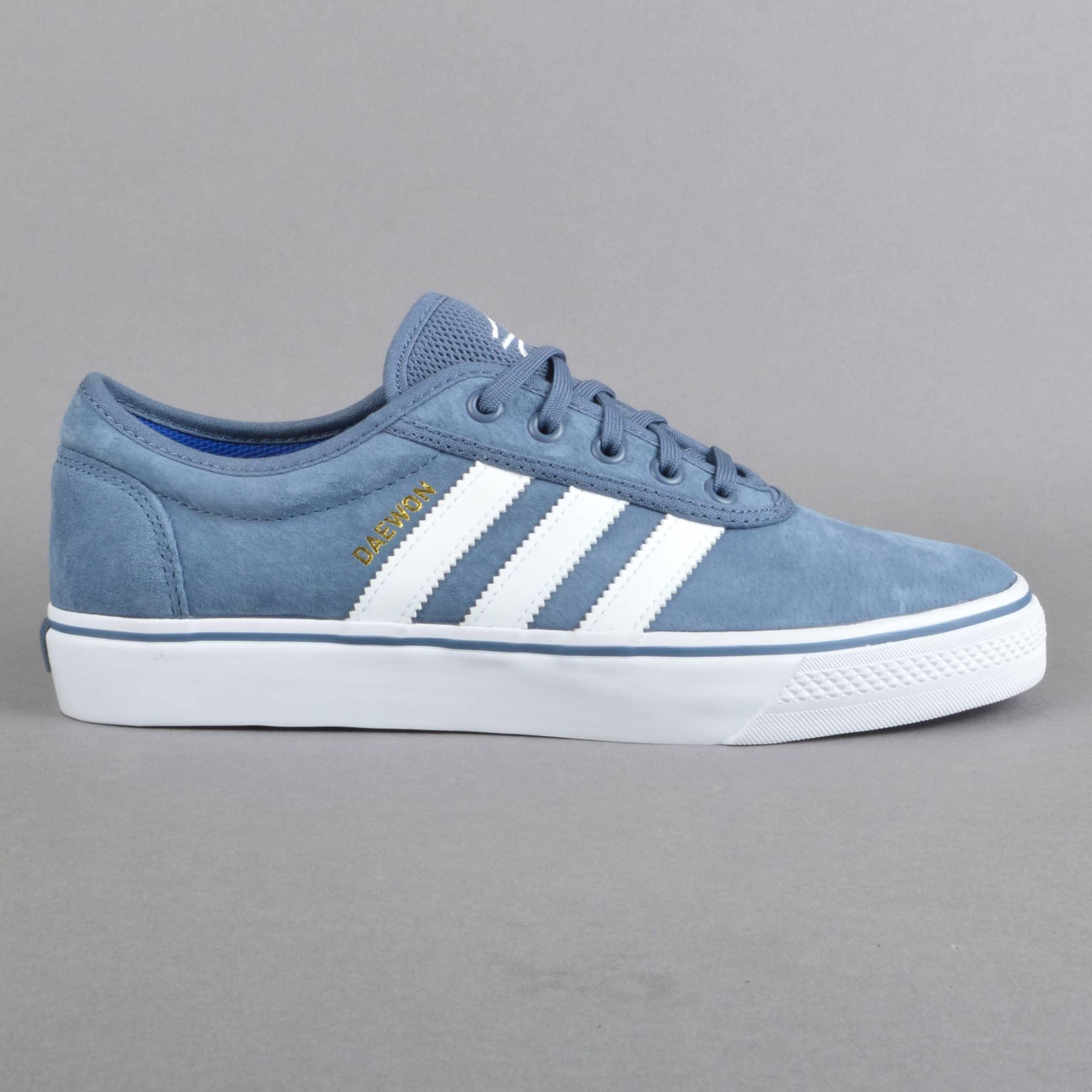 Adidas Skateboarding Adi-Ease Skate Shoes - TECINK/FTWWHT/GOLDMT