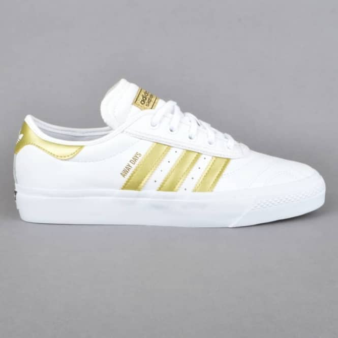 Adidas Skateboarding Adi-Ease Premiere Away Days Skate Shoes - FTW White/GoldDMT/Gum4