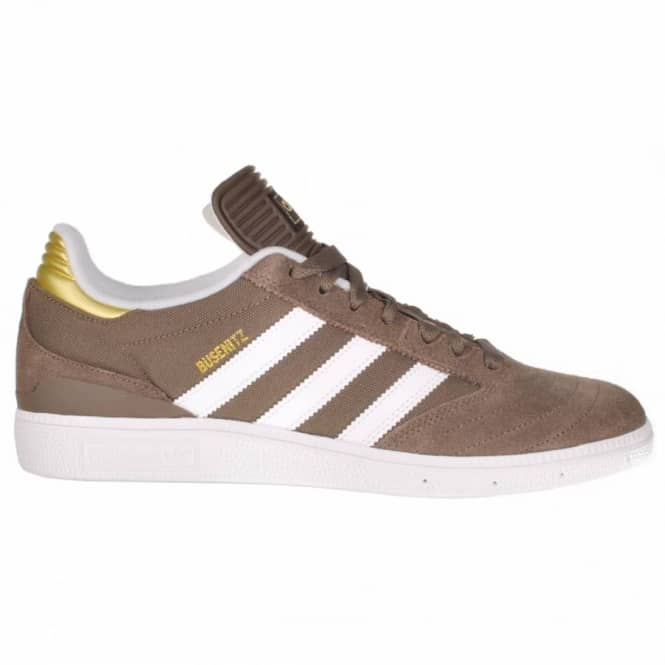 Adidas Skateboarding Adidas Busenitz Skate Shoes - Cargo Brown/Running White/Metallic Gold