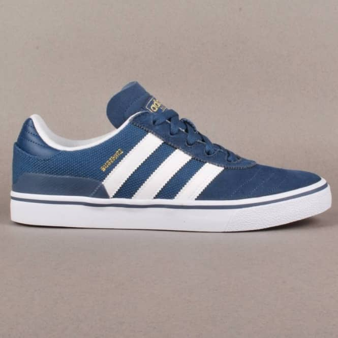 Adidas Skateboarding Adidas Busenitz Vulc Skate Shoes - University Blue/Running White/University Blue