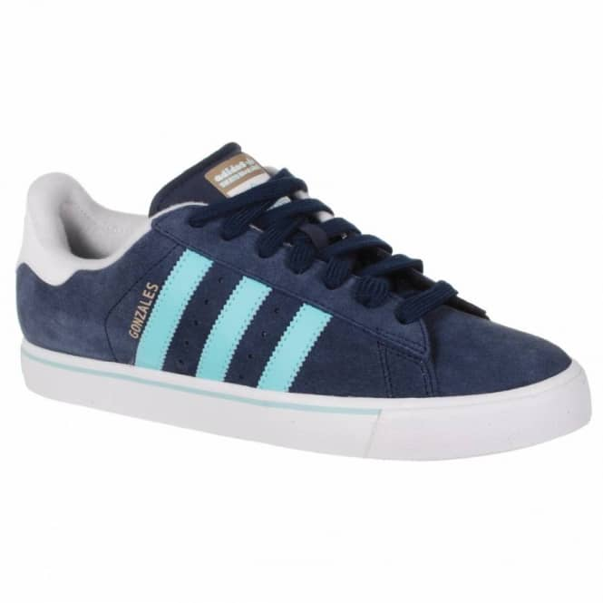 Habubu bancarrota Locomotora  Adidas Skateboarding Adidas Campus Vulc Gonzales Skate Shoes - Collegiate  Navy/Ocean/Running White - Mens Skate Shoes from Native Skate Store UK