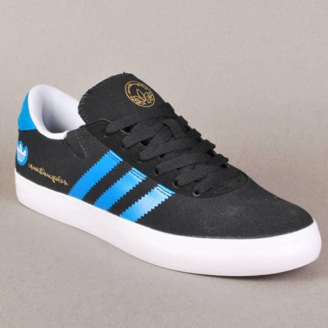 lowest price 5c546 71b80 Adidas Gonz Pro Skate Shoes - BlackSolar BlueRunning White
