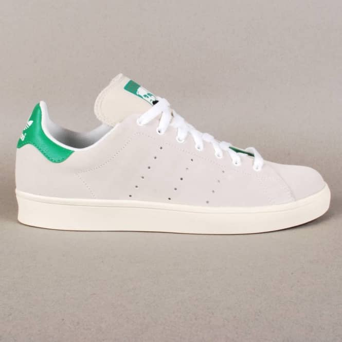 best service 295e1 1b8e5 Adidas Skateboarding Stan Smith Vulc Skate Shoes - Running White Fairway  Green