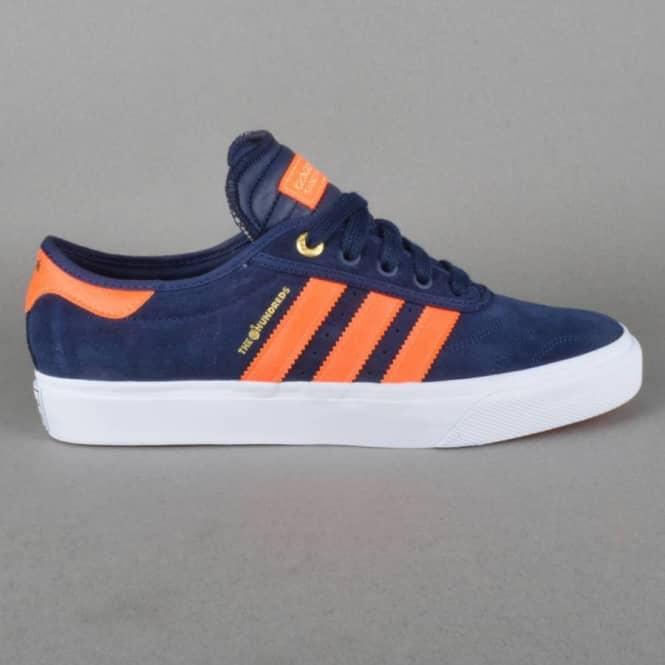 check out c69a9 9683a Adidas x The Hundreds Adi-Ease Skate Shoes - Collegiate NavyOrangeWhite
