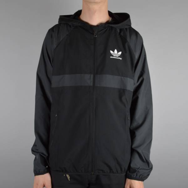cd0a35e4d4a7 Adidas Skateboarding ADV Windbreaker Jacket - Black