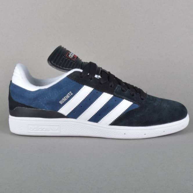 Adidas Skateboarding Busenitz Skate Shoes - Core Black/Rich Blue/Ftwr White