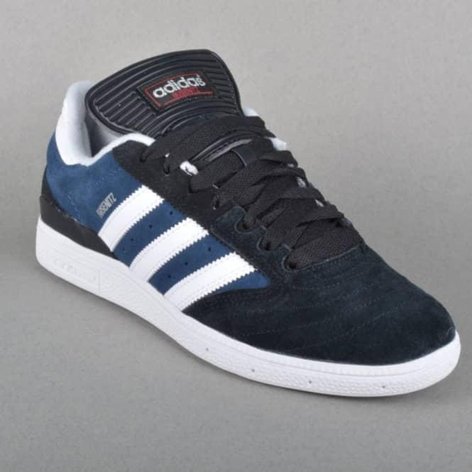 adidas con lo skateboard busenitz pattinare scarpe nucleo ricco nero / blu