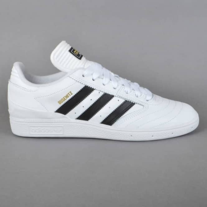 Adidas Skateboarding Busenitz Skate Shoes - FTW White/Core Black/GoldMT