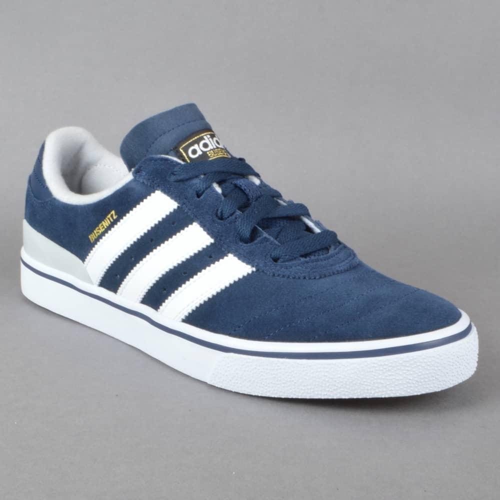 online retailer 9ed89 bb170 Busenitz Vulc ADV Skate Shoes - Collegiate Navy  Solid Grey  White