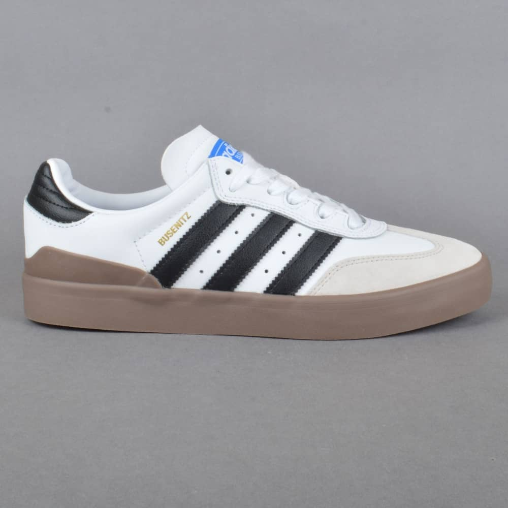 Busenitz Vulc Samba Edition Skate Shoes - Footwear White/Core Black/Bluebird