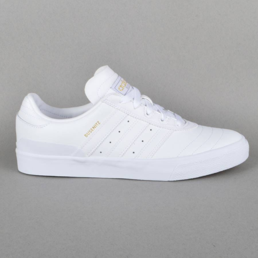 Mens Adidas White Leather Shoes