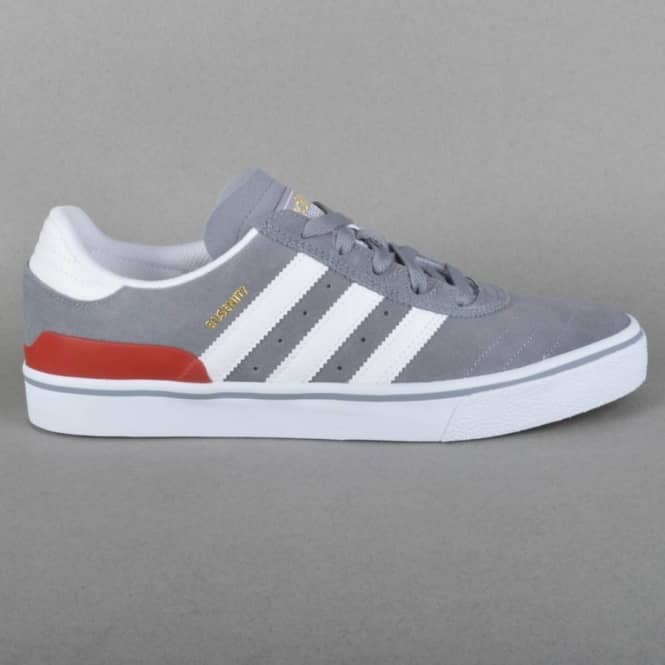 Adidas Skateboarding Busenitz Vulc Skate Shoes - Grey/Ftwr White/Power Red