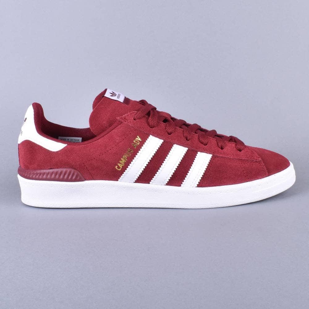 new arrival fashion look for Adidas Skateboarding Campus ADV Skate Shoes - CBURGU/FTWWHT/FTWWHT