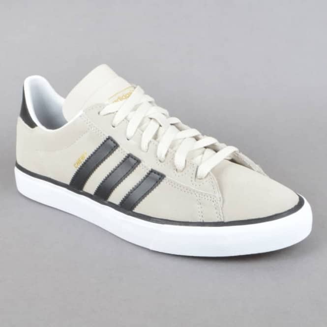 351a7ff617c Campus Vulc II (Chewy) Skate Shoes - Mist Stone/Core Black/Gold Metallic
