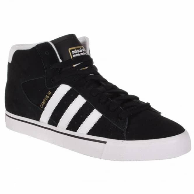 Adidas Skateboarding Campus Vulc Mid Skate Shoes - Black Running  White Metallic Gold d83667d74f86