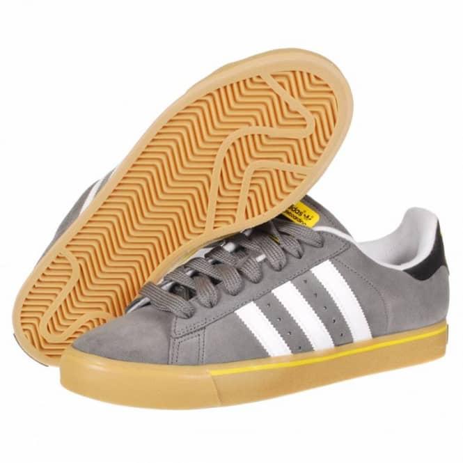 Adidas Skateboarding Campus Vulc Skate Shoes - Mid Cinder White Vivid Yellow 52212690d1