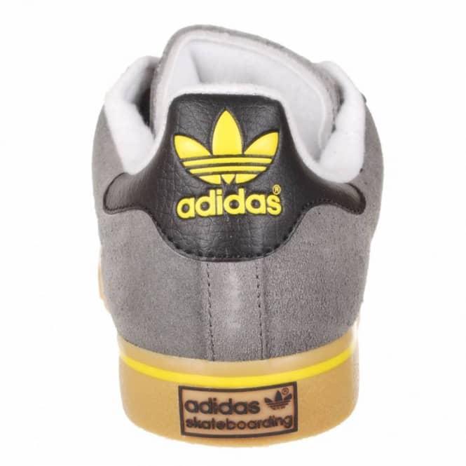 reputable site 3df2f f4b4c Adidas Skateboarding Campus Vulc Skate Shoes - Mid Cinder White Vivid Yellow