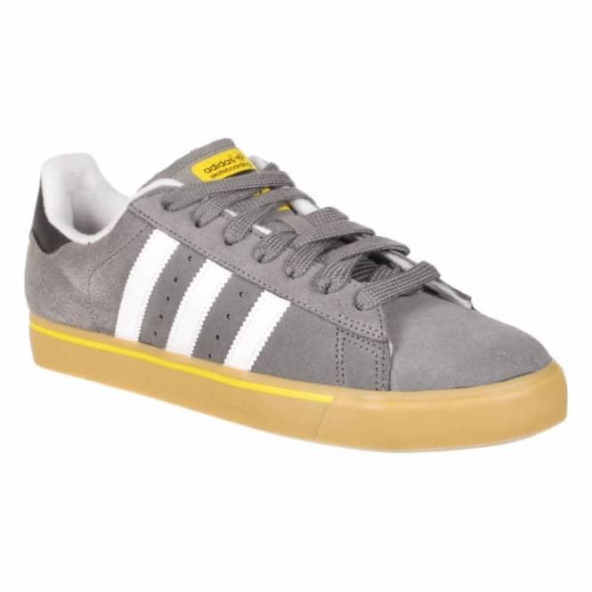 Adidas Skateboarding Campus Vulc Skate Shoes - Mid Cinder White Vivid Yellow 5858273aff94