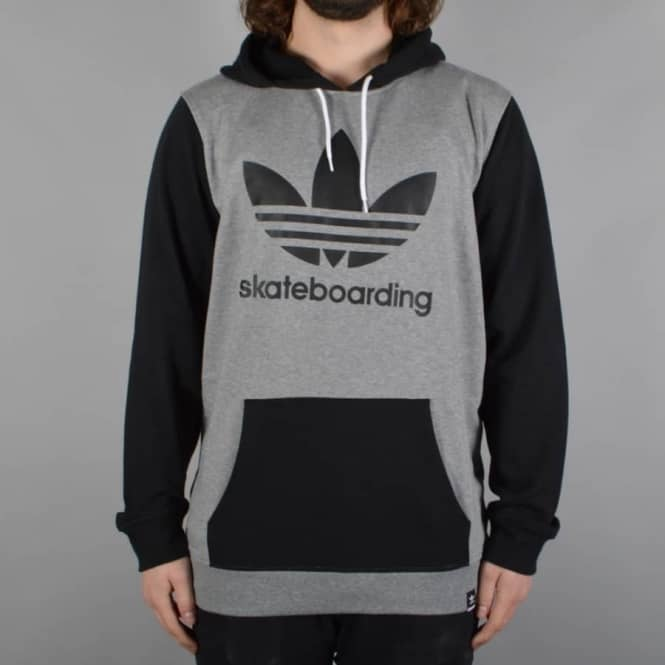 Adidas Skateboarding Clima 3.0 Pullover Hood - Core Heather/Black