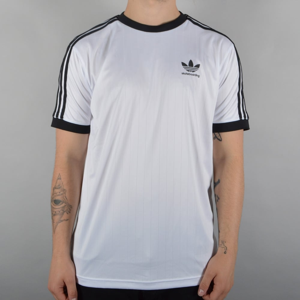 2da725fac Adidas Skateboarding Clima Club Jersey - White/Black - SKATE ...