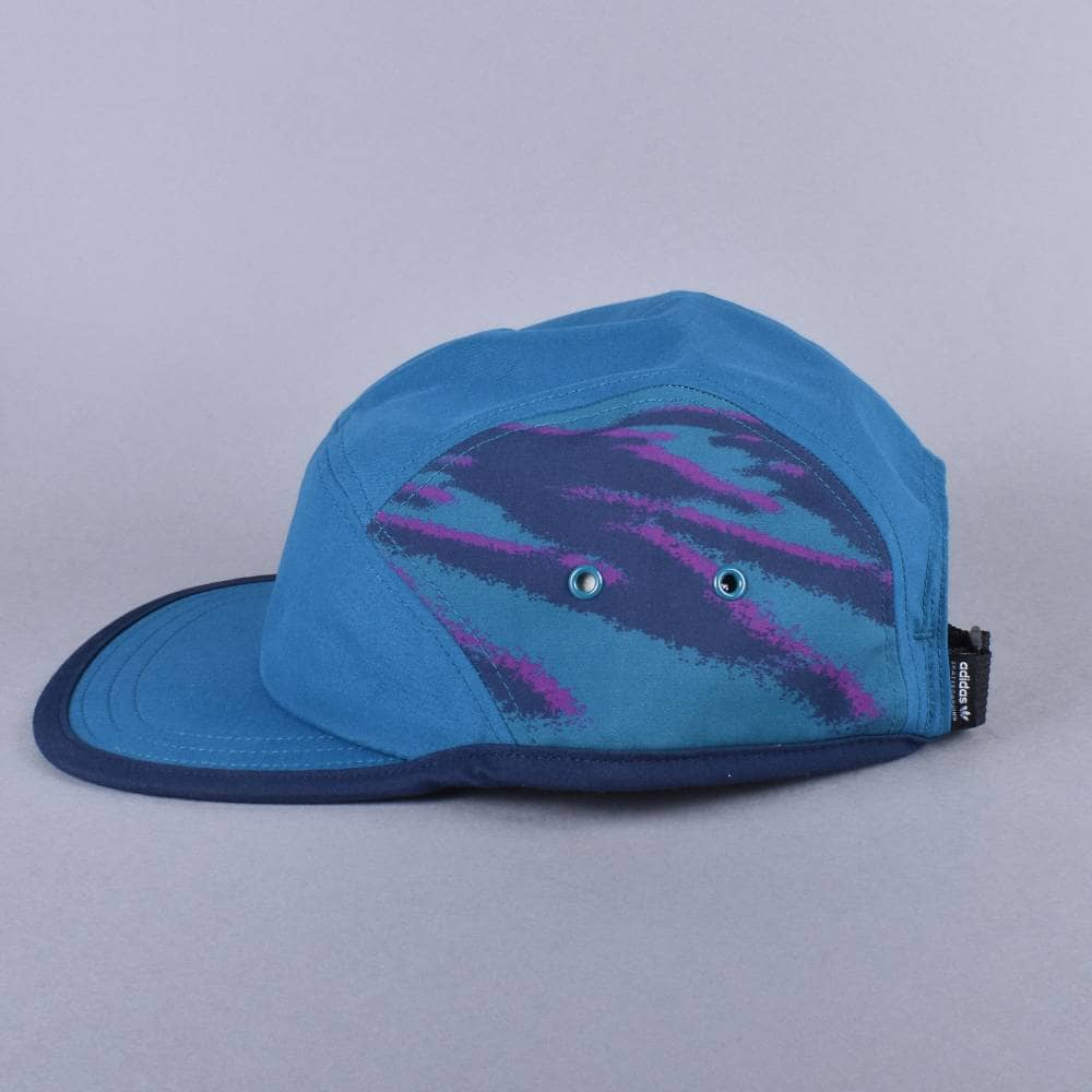 d8a6e91f522 Adidas Skateboarding Court 5 Panel Strapback Cap - Real Teal - SKATE ...