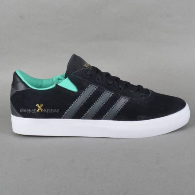 low priced 7ae6e b317d Gonz Pro Krooked Skate Shoes - Core BlackDark Soft GreySolo Mint