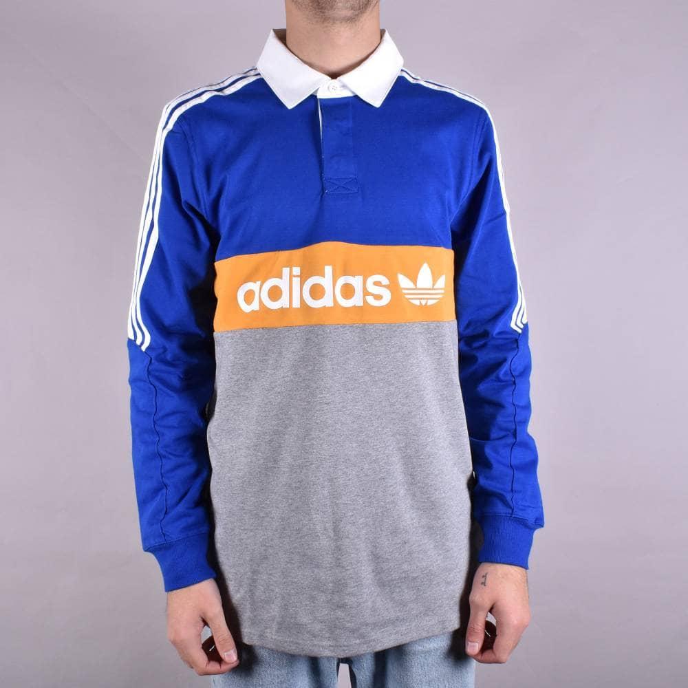fea93848f8f Adidas Skateboarding Heritage L/S Polo Shirt - Collegiate Royal/Core ...