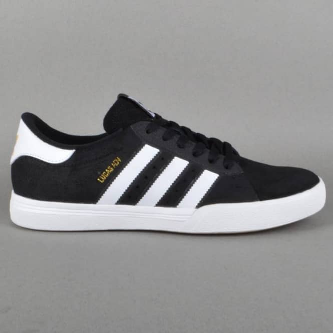 Adidas Skateboarding Lucas ADV Skate Shoes - Core Black/FTW White/Gold Metallic