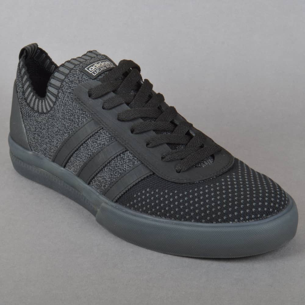new style e01bd bb520 Lucas Premiere PK Skate Shoes - Core Black Dark Grey Heather Solid Grey