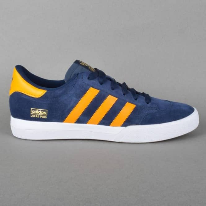 Adidas Skateboarding Lucas Skate Shoes - Navy/Orange