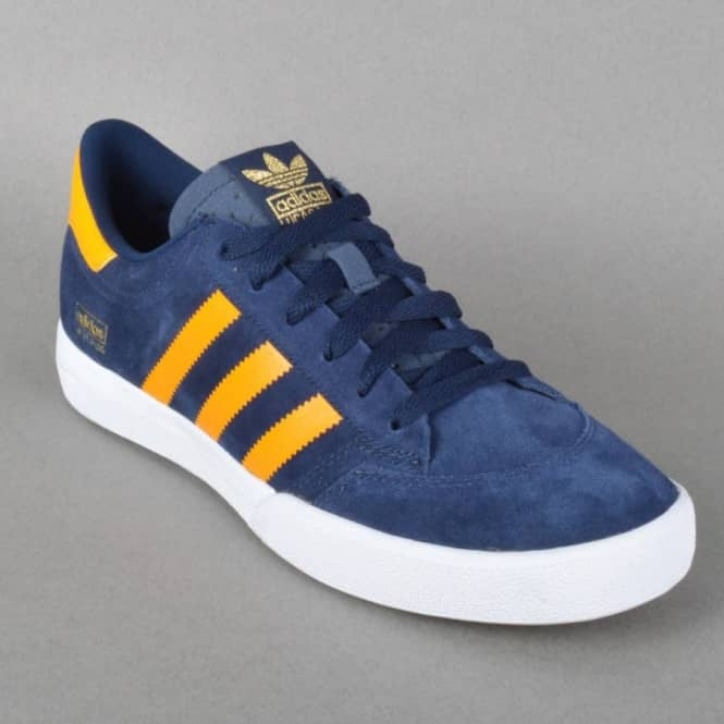 Adidas Skateboarding Lucas Puig Suede Shoes Blue Yellow