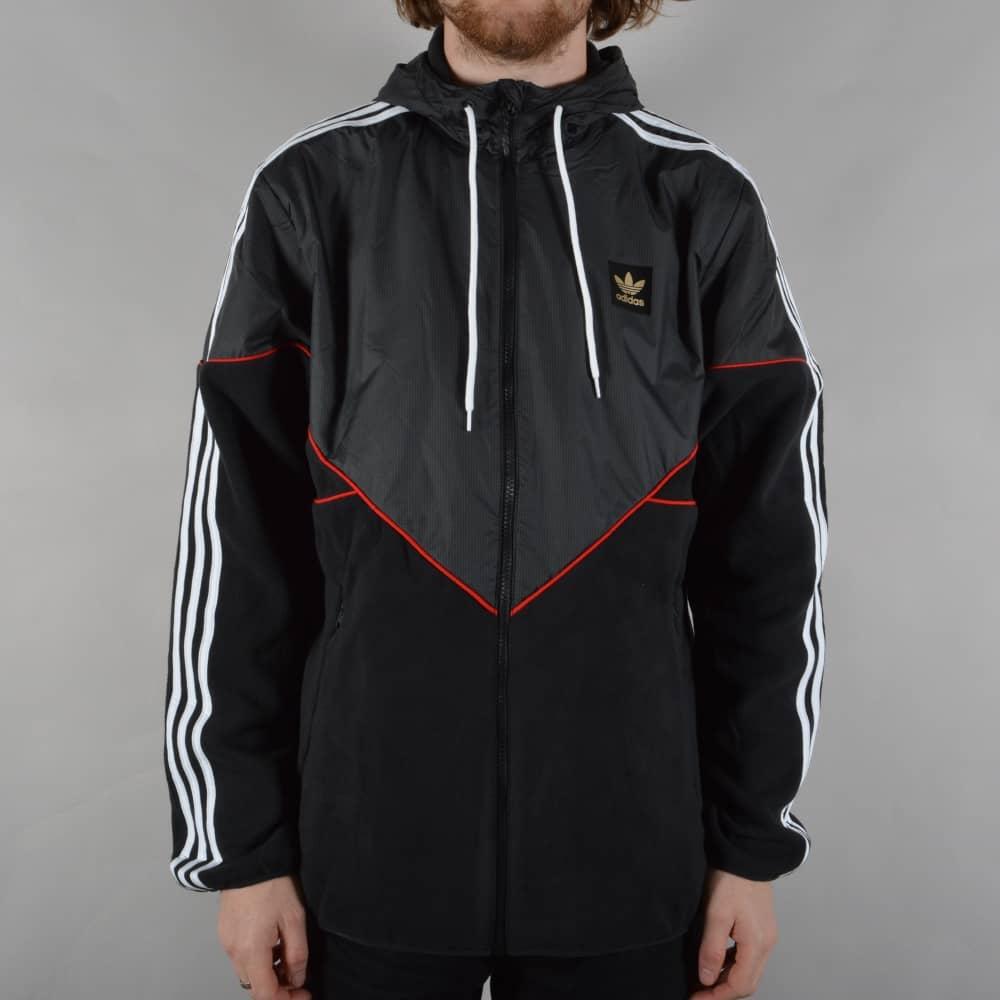 c86b4e07b Adidas Skateboarding Premiere Windbreaker Jacket - Black/Utility ...